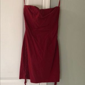 Express Sexy red bodycon dress